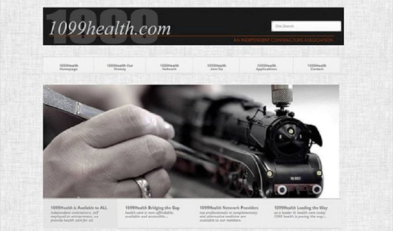 Yates Web Consulting web design for 1099 Health utilizing WordPress modified template technology