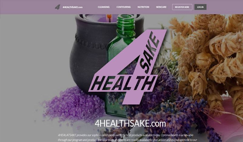 Yates Web Consulting web design for 4HealthSake using modified Bootstrap technologies