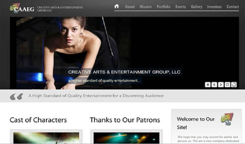 Yates Web Consulting web design for CAAEG using WordPress modified theme technologies