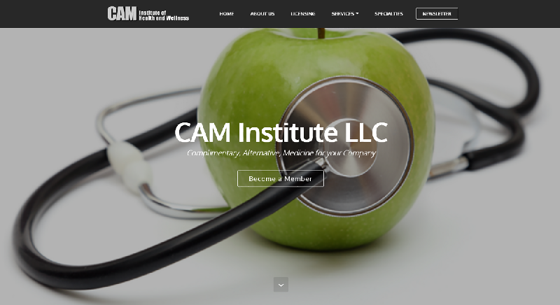 Yates Web Consulting web design of website for CAM Institute, LLC. Designed using Bootstrap technology